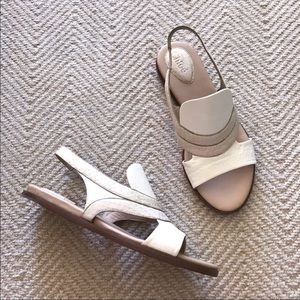 NEW CHLOE Flat Snake and Leather Sandals